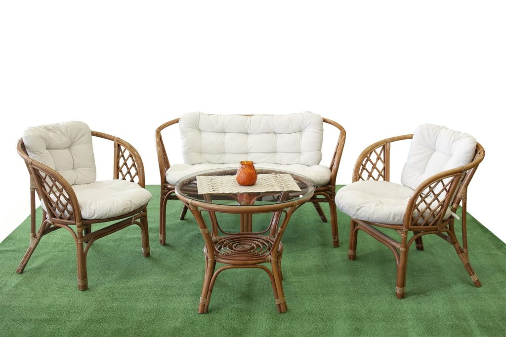 dining wood chair on turf
