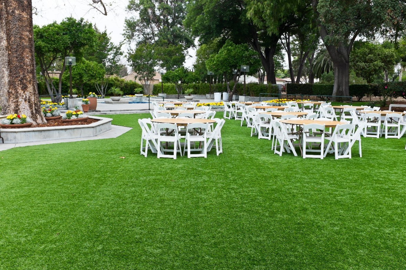 backyard party design ideas - synthetic grass dfw