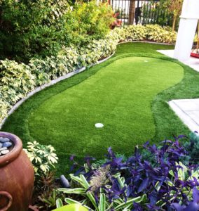 decorative backyard putting green - synthetic grass dfw