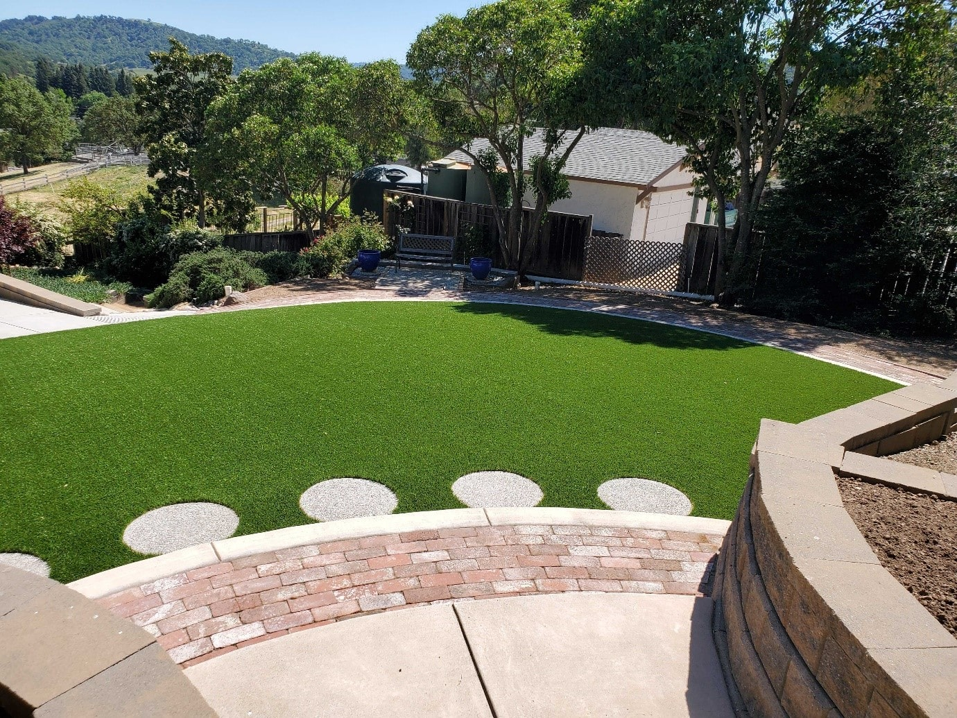 backyard design artificial turf