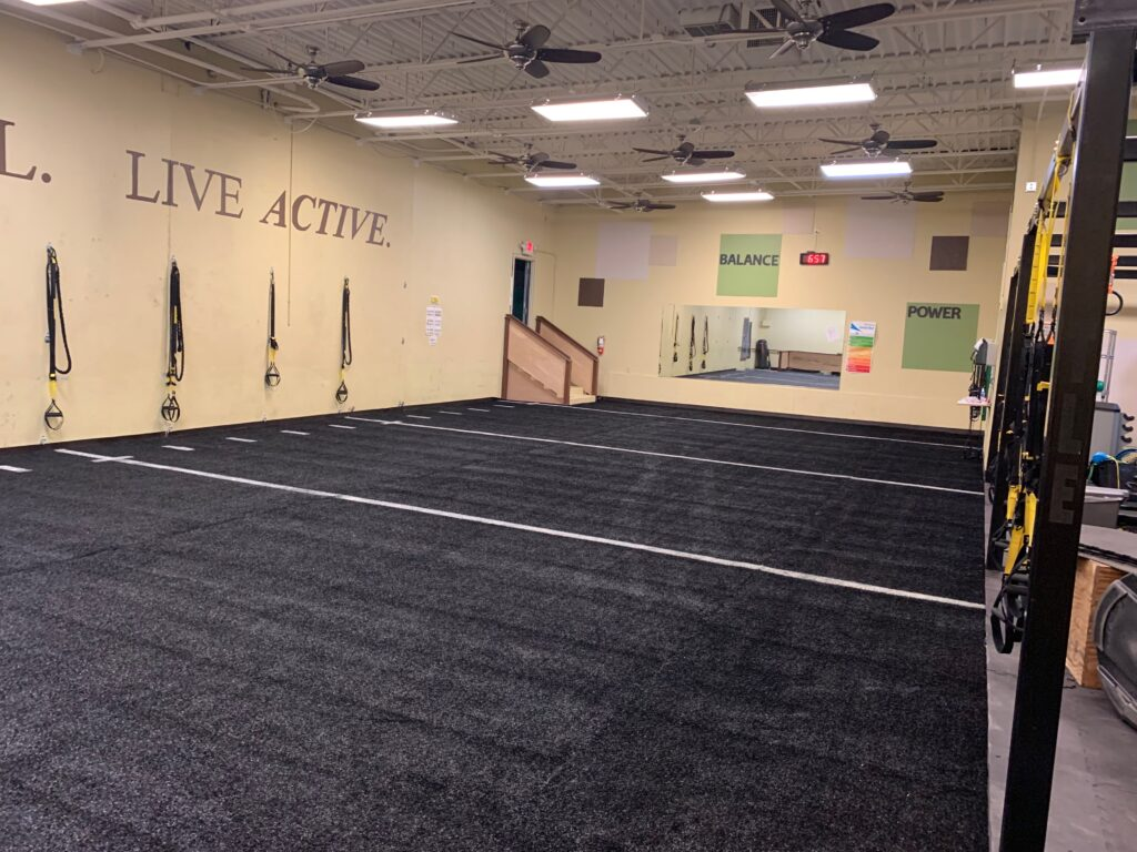 Indoor Sports Gym Turf Install