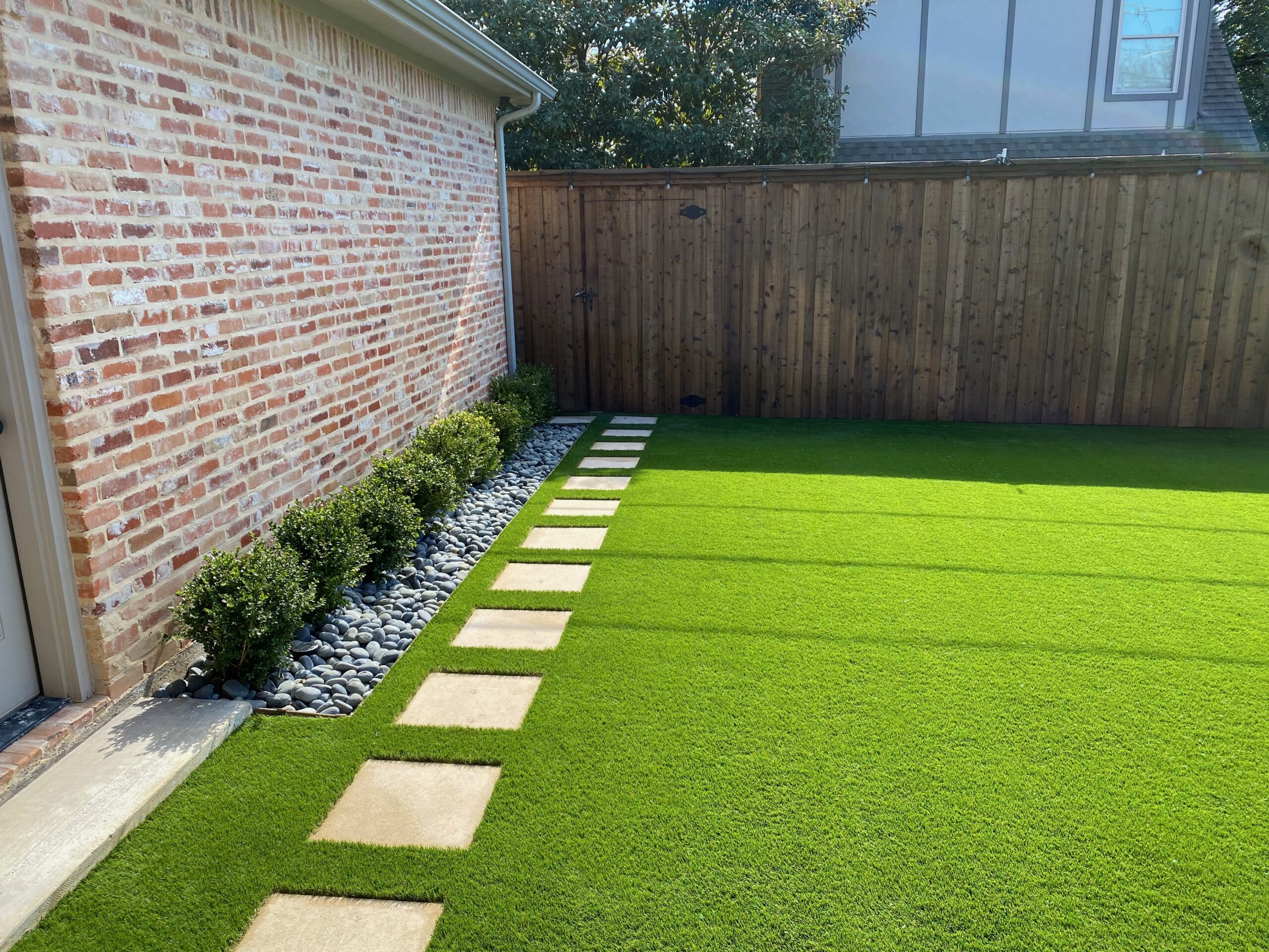 Backyard landscape Turf