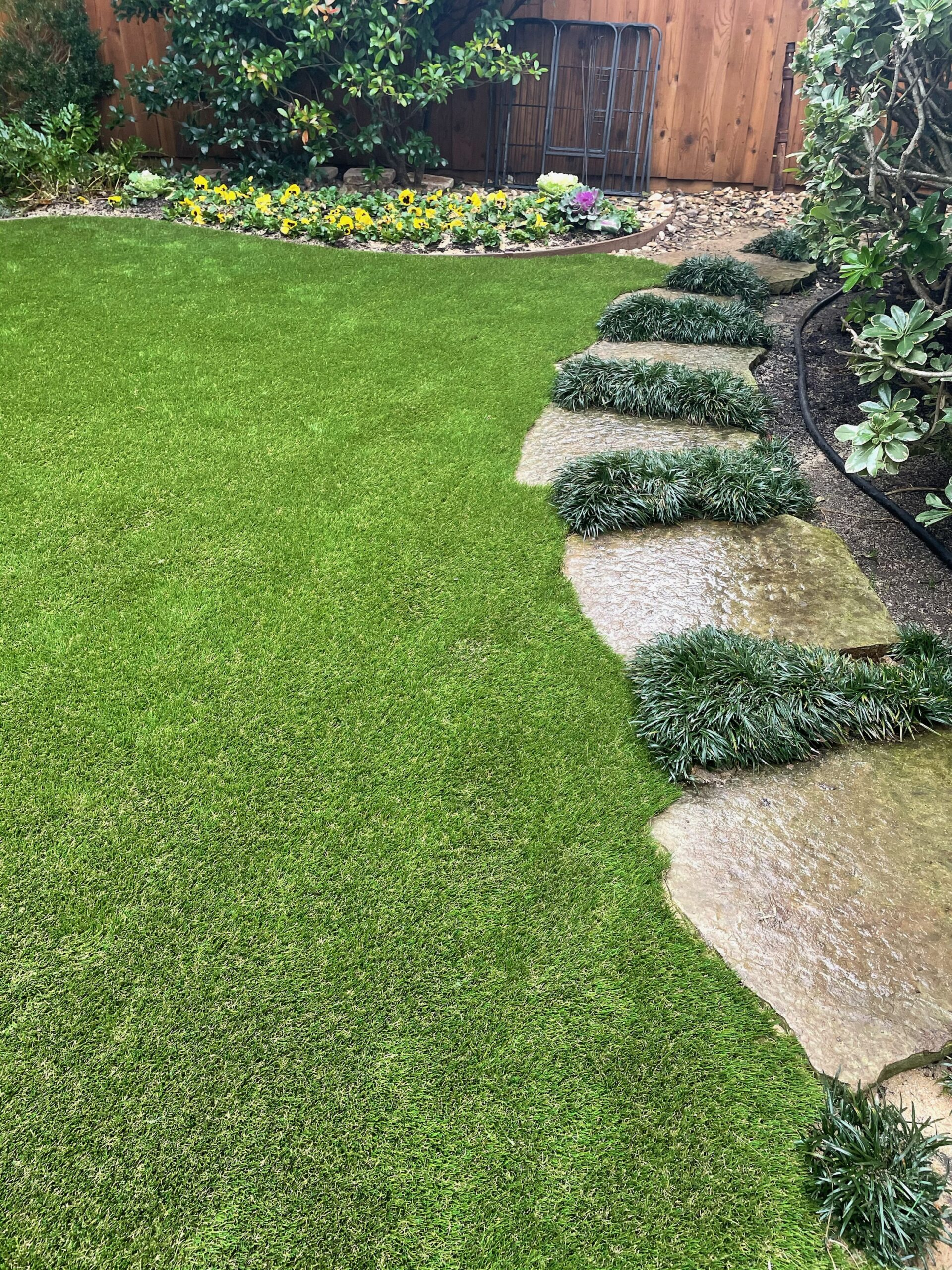 Professional Turf Installation Detail work